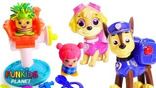 Paw Patrol Give Hair Cuts Play-Doh Barber Shop Play Set