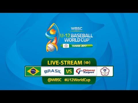 Live: Brazil v Chinese Taipei - U-12 Baseball World Cup 2017