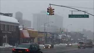 jamaica queens snow outside 169th st subway hillside av homelawn st new york 2014