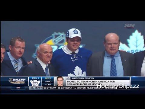 Toronto Maple Leafs select Auston Matthews - 2016 NHL Entry Draft