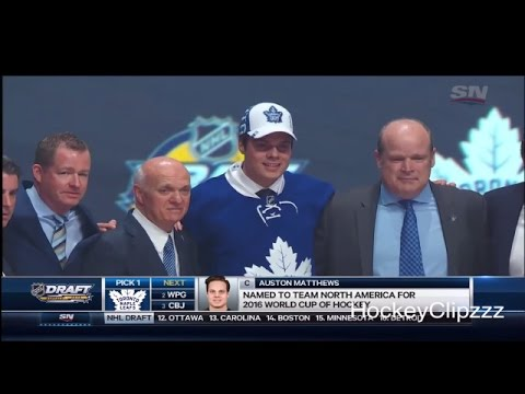 Toronto Maple Leafs select Auston Matthews - 2016 NHL Entry Draft