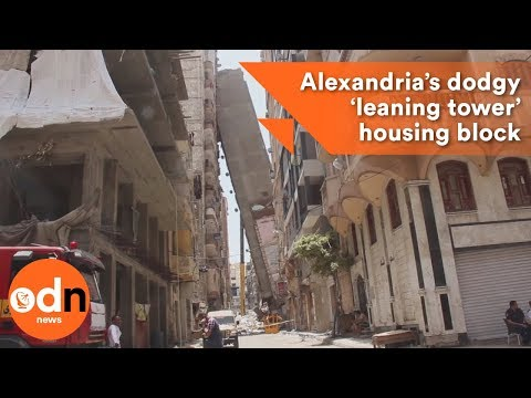 Alexandria's dodgy 'leaning tower' housing block