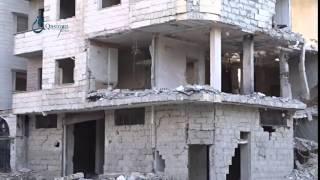 وكالة قاسيون آثار الدمار جراء القصف على  مدينة زملكا بريف دمشق 5-12-2015