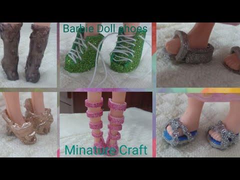 6 AMAZING DIY Barbie Doll Shoes style || Doll sandal ||Minature Craft