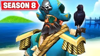 FORTNITE SEASON 8 TIER 100 SKIN - PIRATES ARE COMING TO TITLED TOWERS ... SNOWFALL SKIN STAGE 5 KEY?