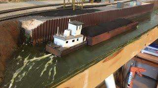 Model Railroads: making the coal docks PT. 2, walls, river, waves, coal