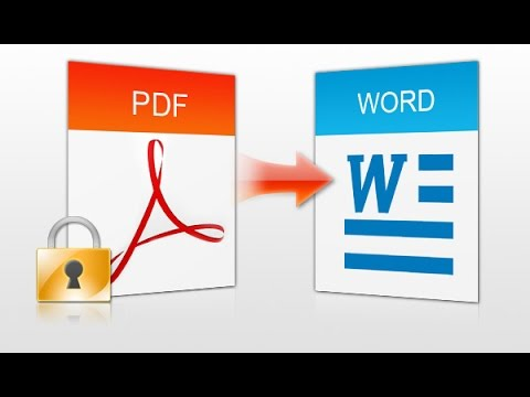 How To Convert PDF to Word Document
