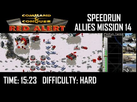 SPEEDRUN - Command & Conquer Red Alert: Allies Mission 14 (Final Mission, Hard)