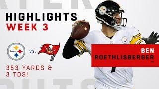 Ben Roethlisberger's Big Night w/ 353 Yards & 3 TDs