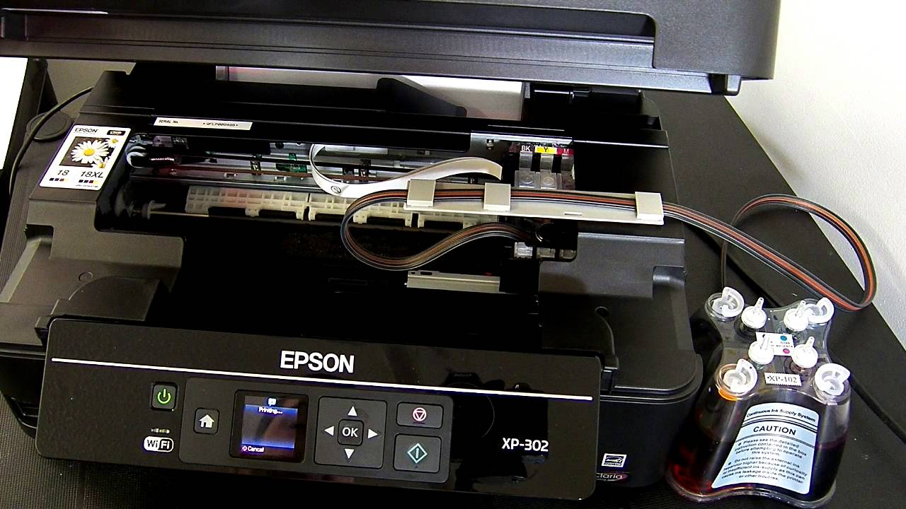 Ciss Continuous Ink System Fits Epson Expression Xp 302