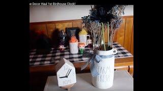 Rae Dunn & Home Decor Haul 1st Birdhouse Clock! 2019