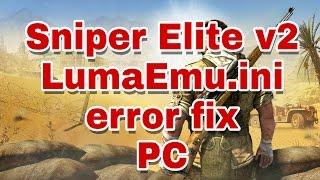 LumaEmu.ini is missing Error Fix Pc