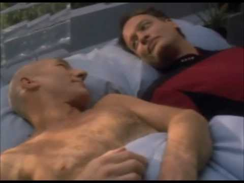 Star Trek TNG out of context  Picard and Q in bed