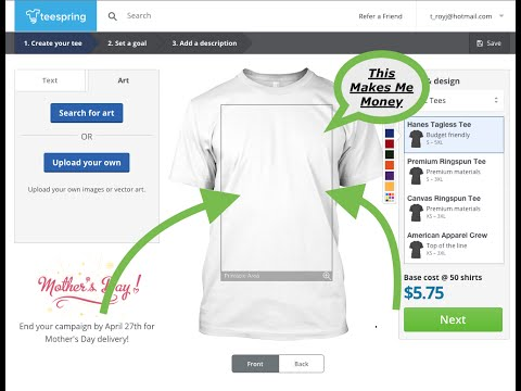 Create A T-Shirt Store Today | Sell on Shopify | Online Store | Making Money Online | Passive Income