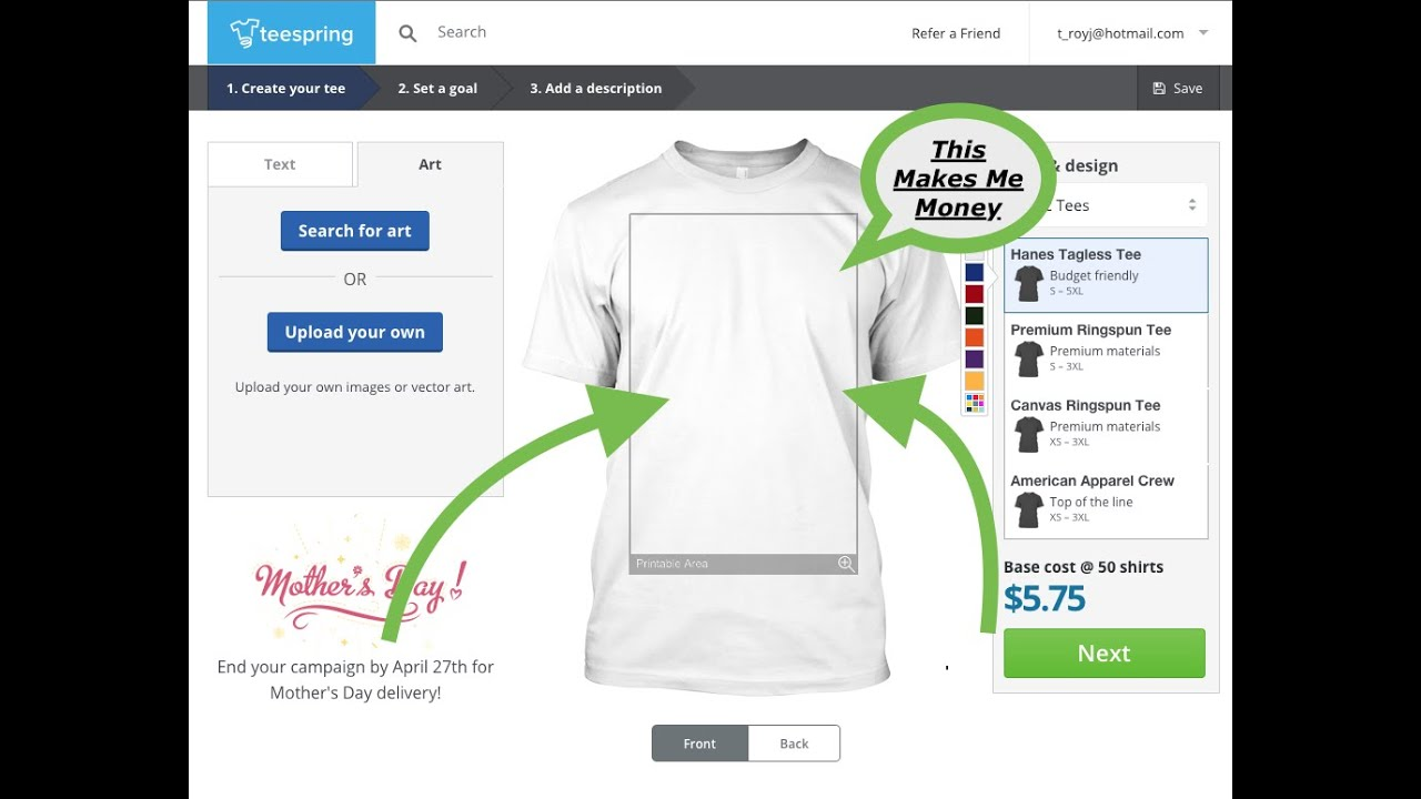 Create A T-Shirt Store Today | Sell on Shopify | Online ...