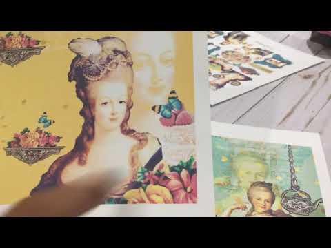 Marie Antoinette inspired paper!