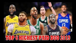 TOP 6 HIGHEST PAID SUPERSTAR DUO ngayon sa NBA