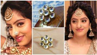 Deepika Singh Kundan Nosering making at home|Silk thread| KUNDAN Nath making| Kawach2 |