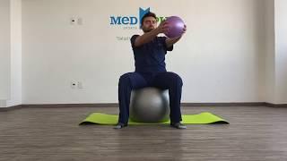 Movilidad de espalda con pelota pilates