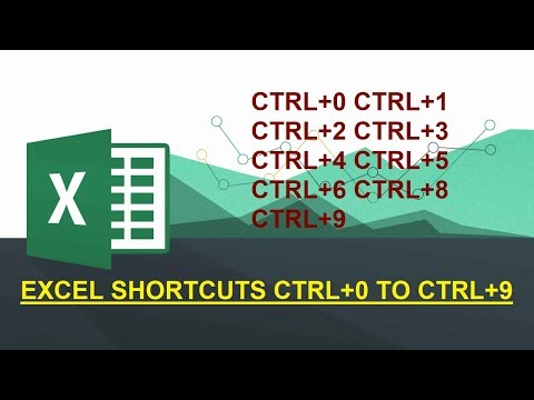 EXCEL SHORTCUTS CTRL+0 TO CTRL+9 | EXCEL SHORTCUTS CTRL+NUMERICAL NUMBERS | EXCEL SHORTCUTS | EXCEL|