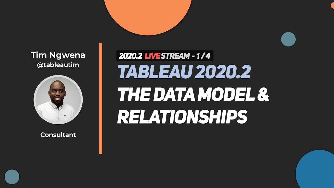 Tableau Tim 2020 2 The Tableau Data Model Relationships Hd Youtube