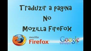 Tradução automática da página no Mozilla Firefox