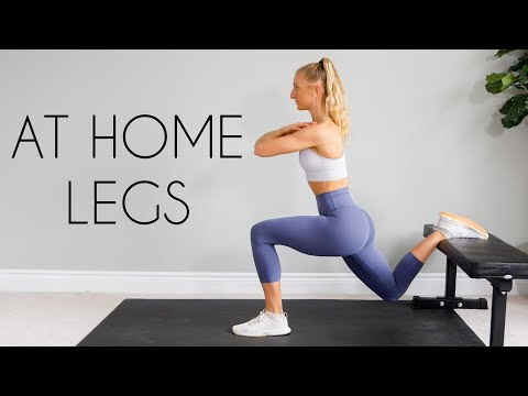 20 min AT HOME LEG WORKOUT (Bodyweight, No Equipment)