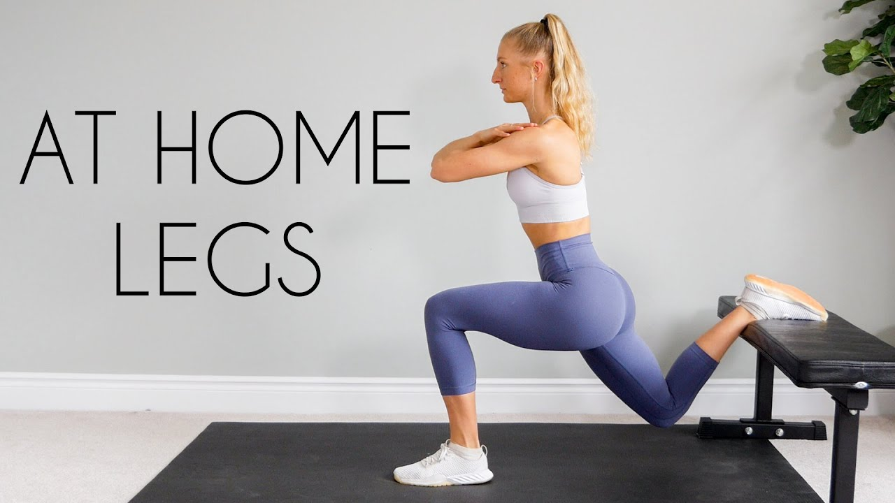 20 min AT HOME LEG WORKOUT (Bodyweight, No Equipment ...