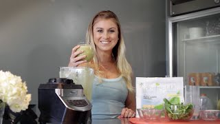 How To Make A Green Smoothie: Almond Milk, Spinach, & Mangos