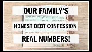 Our Family's HONEST Debt Confession | Real Numbers!