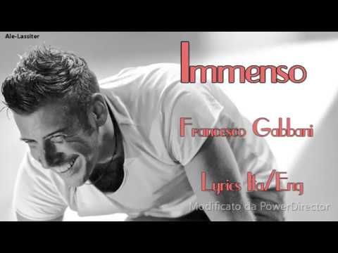Francesco Gabbani-Immenso Lyrics (Sub Ita/Eng)