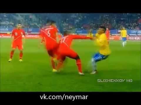 Неймар и его сумасшедшие финты и голы   Бразилия