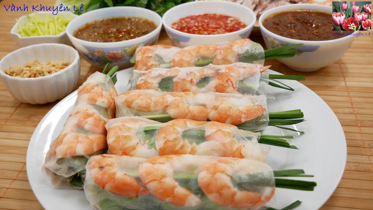 GỎI CUỐN – CÁCH PHA 3 LOẠI NƯỚC CHẤM Gỏi cuốn – Món ăn ngon tên tuổi của Việt Nam by Vanh Khuyen