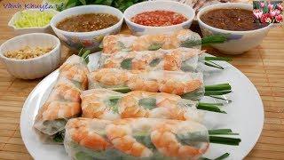 GỎI CUỐN - CÁCH PHA 3 LOẠI NƯỚC CHẤM Gỏi cuốn - Món ăn ngon tên tuổi của Việt Nam by Vanh Khuyen