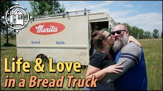 2 nomads fell in love \\u0026 live in a bread truck (van tour)