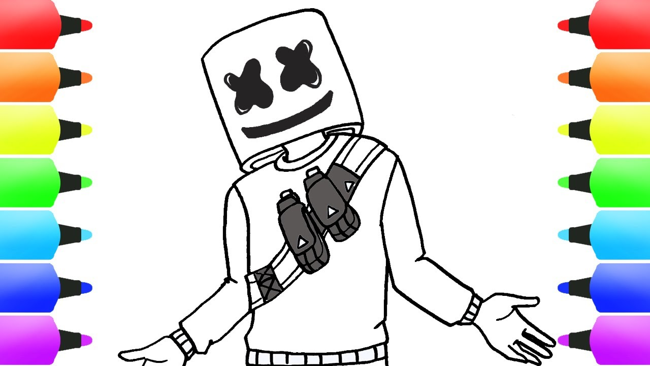 How to Draw MARSHMELLO | FORTNITE Drawing Tutorials (Awesome!)