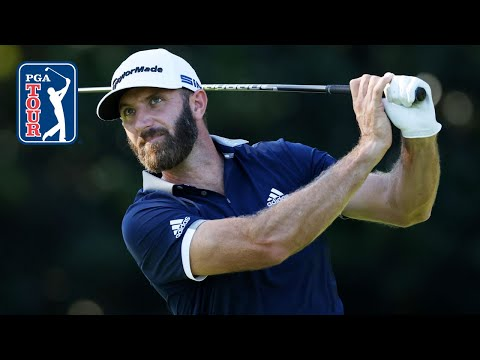 Dustin Johnson's swing in slow motion (every angle)