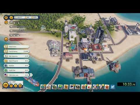 Tropico 6 - Splitter Speedrun - Easy Difficulty in 16:19 |