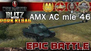 WoT BLITZ GREAT BATTLES AMX AC mle 46 Raisenai Heroes Mastery Badge Top gun High caliber