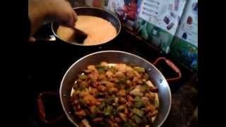 Paella valenciana al horno (como hacer paella en vitrocerámica)