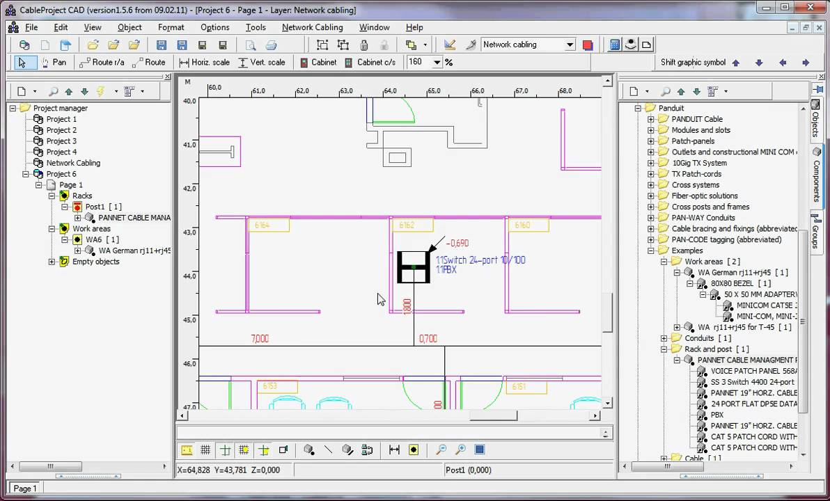 cableproject cad getting a rack design drawing