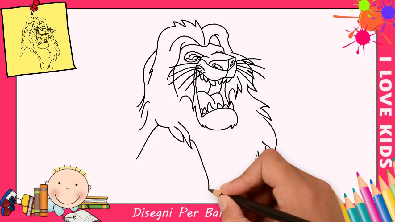 Disegni di leoni facili per bambini come disegnare un for Disegni di animali per bambini