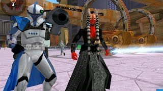 Star Wars battlefront 2 Mods - Coruscant - Droid Invasion - Gameplay