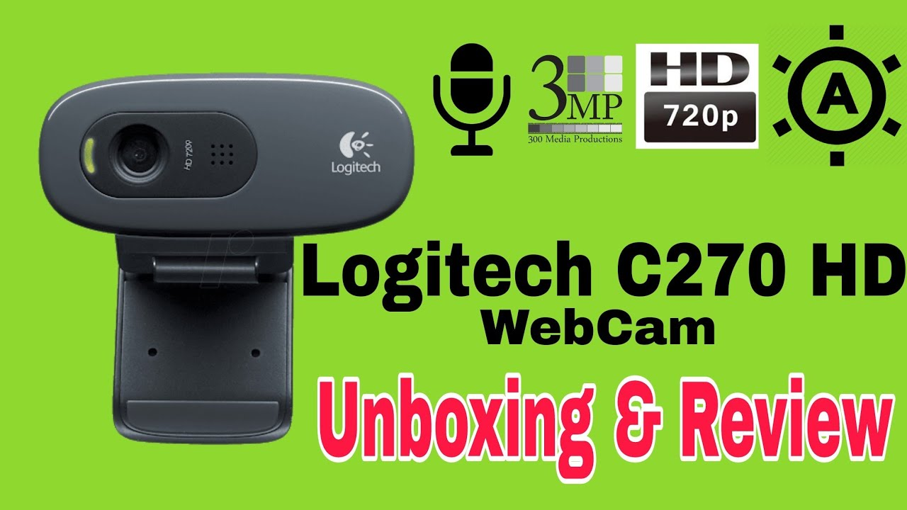 Logitech webcam c270 install for windows 10