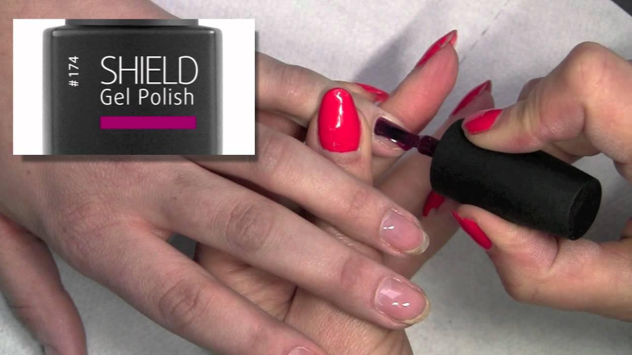 3 week manicure - Gel polish - Shield by Kinetics - YouTube