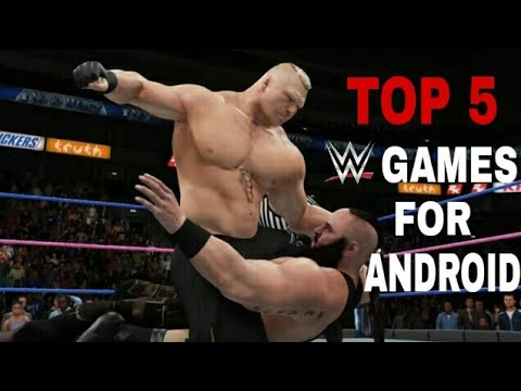TOP 5 TRULY BEST WWE GAMES FOR ANDROID 2018 | EVOLVED GAMERS |
