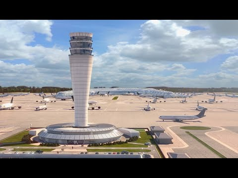 Voxelstudios -- Air Traffic Control Tower, New International Airport Of Mexico City.
