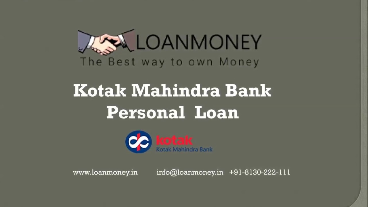 Apply Personal Loan Kotak Mahindra Bank