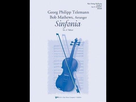 Sinfonia SO337 by Georg Philipp Telemann, arranged by Bob Matthews