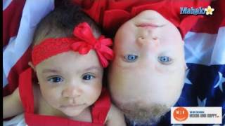 Biracial Couple has Black and White Twins